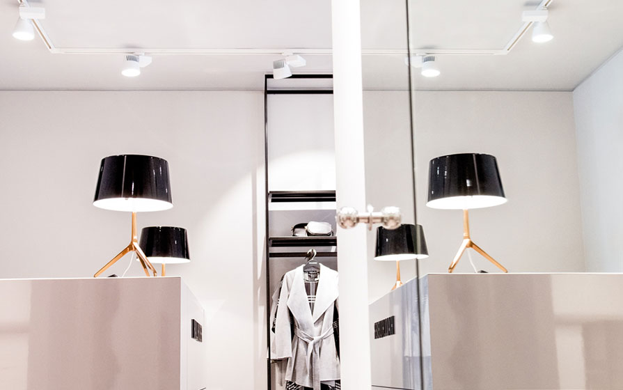 Tischlampen im Hallhuber-Store von Keller-Warth